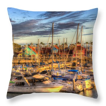 When The Sun Goes Down Throw Pillow by Heidi Smith