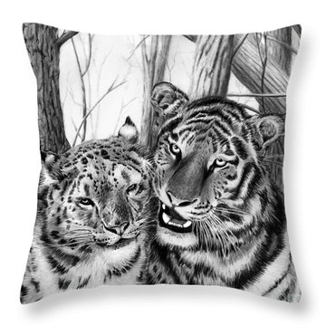 When Two Hearts Collide Throw Pillow by Peter Piatt
