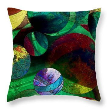 When Worlds Collide Throw Pillow by RC DeWinter
