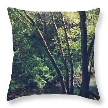 Where It's Shady Throw Pillow by Laurie Search