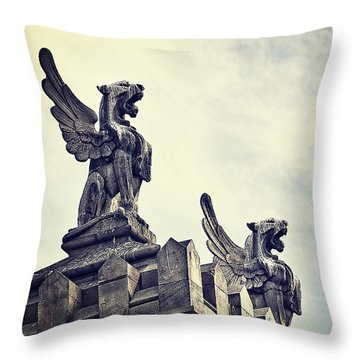 Where The Lions Roar Throw Pillow by Ivy Ho
