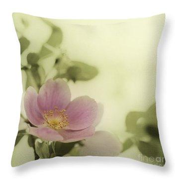 Where The Wild Roses Grow Throw Pillow by Priska Wettstein