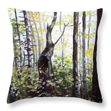 Where Time Stops Throw Pillow by Shana Rowe Jackson