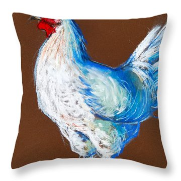 White Hen Throw Pillow by Mona Edulesco