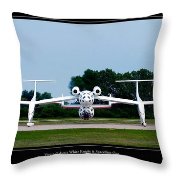 White Knight Throw Pillow by Adam Romanowicz