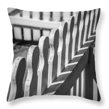 White Picket Fence Portsmouth Throw Pillow by Edward Fielding