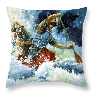 White Water Throw Pillow by Hanne Lore Koehler