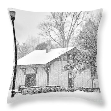 Whitehouse Train Station Throw Pillow by Jack Schultz