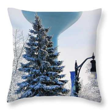 Whitehouse Water Tower  7361 Throw Pillow by Jack Schultz