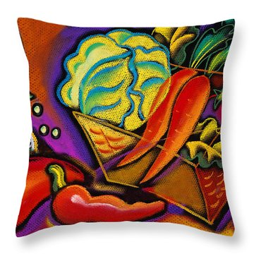 Very Healthy For You Throw Pillow by Leon Zernitsky