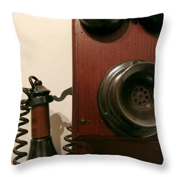 Who's Calling... Throw Pillow by Alessandro Della Pietra