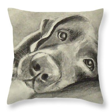 Why Are You Waking Me Up? Throw Pillow by Marcello Cicchini