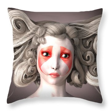 Why Throw Pillow by Britta Glodde