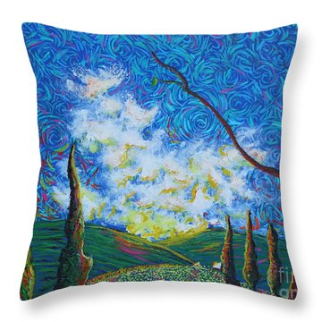 Why Throw Pillow by Stefan Duncan