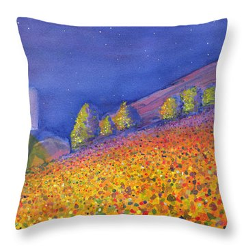 Widespread Panic Redrocks With Michael Houser Throw Pillow by David Sockrider