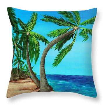 Wild Beach Throw Pillow by Anastasiya Malakhova