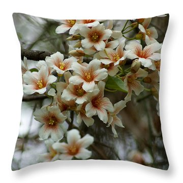 Wild Flowering Beauty Throw Pillow by Kim Pate