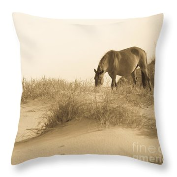 Wild Horse Throw Pillow by Diane Diederich