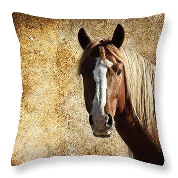 Wild Horse Fade Throw Pillow by Steve McKinzie
