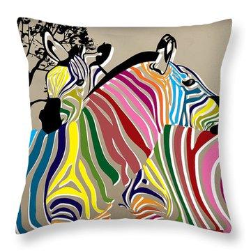 Wild Love 2 Throw Pillow by Mark Ashkenazi