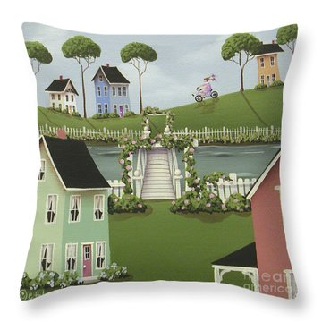 Wild Rose Crossing Throw Pillow by Catherine Holman