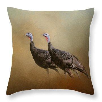 Wild Turkey At Shiloh Throw Pillow by Jai Johnson