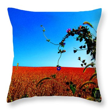 Wildflower And Soy Throw Pillow by Tina M Wenger