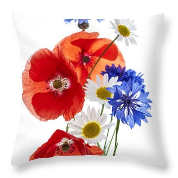 Wildflower Arrangement Throw Pillow by Elena Elisseeva