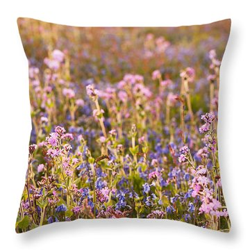 Wildflower Dusk Throw Pillow by Anne Gilbert