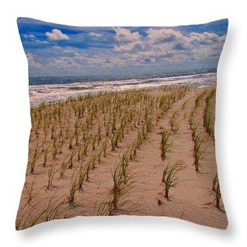 Wildwood Beach Breezes  Throw Pillow by David Dehner