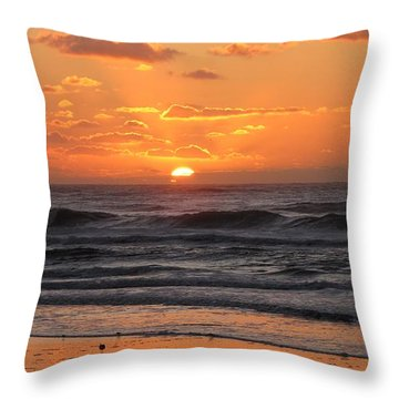 Wildwood Beach Here Comes The Sun Throw Pillow by David Dehner