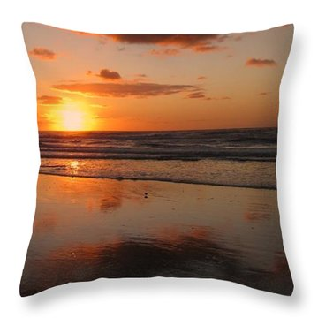 Wildwood Beach Sunrise Throw Pillow by David Dehner