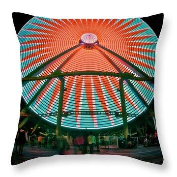 Wildwood's Giant Wheel Throw Pillow by Mark Miller
