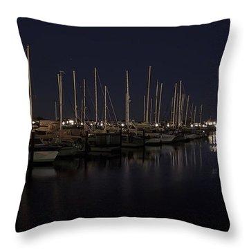 Winchester Bay Marina - Oregon Coast Throw Pillow by Daniel Hagerman