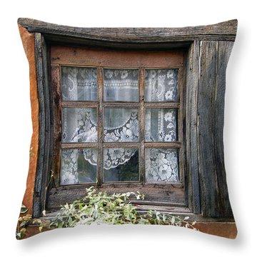 Window At Old Santa Fe Throw Pillow by Kurt Van Wagner