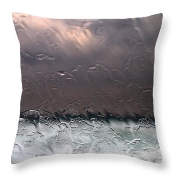 Window Sea Storm Throw Pillow by Stelios Kleanthous