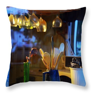Window To My Kitchen Throw Pillow by Brian Wallace