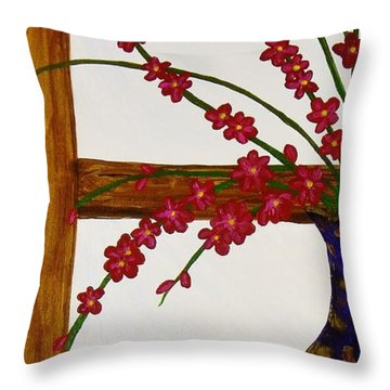 Window With A View Throw Pillow by Celeste Manning