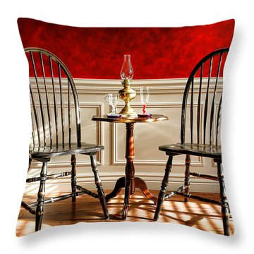 Windsor Chairs Throw Pillow by Olivier Le Queinec