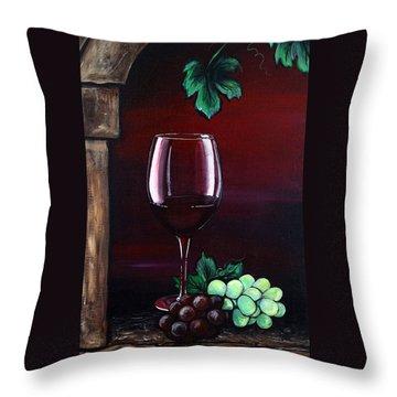 Red Wine Sunset Throw Pillow by Dani Abbott