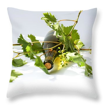Wine Throw Pillow by Patricia Hofmeester