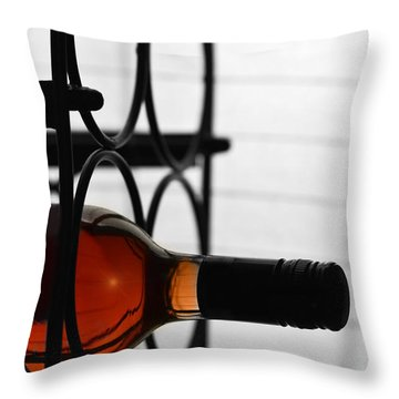 Wine Rack Throw Pillow by Toppart Sweden