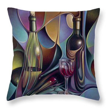 Wine Spirits Throw Pillow by Ricardo Chavez-Mendez