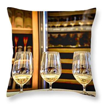 Wine Tasting  Throw Pillow by Elena Elisseeva
