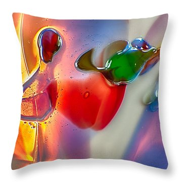 Winged Beauty Throw Pillow by Omaste Witkowski