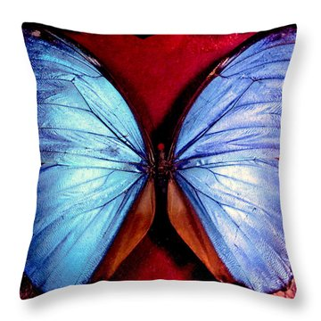 Wings Of Nature Throw Pillow by Karen Wiles