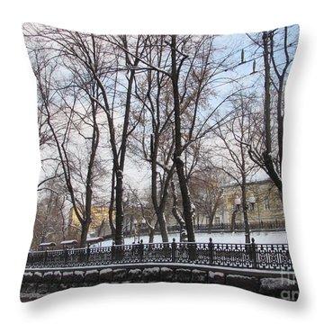 Winter Boulevard Throw Pillow by Anna Yurasovsky