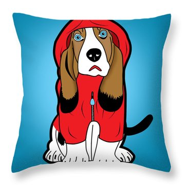 Winter Dog  Throw Pillow by Mark Ashkenazi