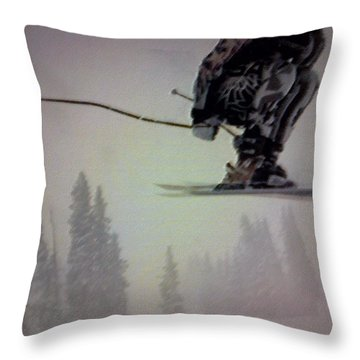 Winter Flight Throw Pillow by George Pedro