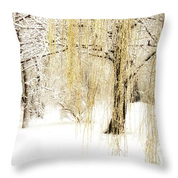 Winter Gold Throw Pillow by Julie Palencia